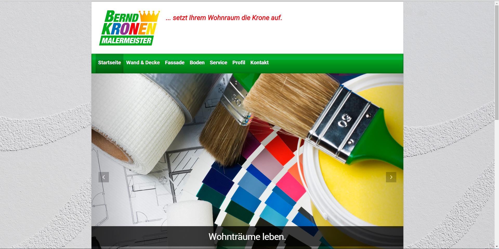 Webdesign für Malermeister Bernd Kronen aus Ratingen