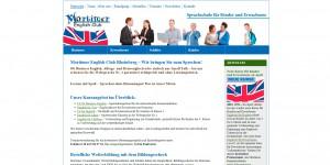Internetseite für Mortimer English Club in Rheinberg