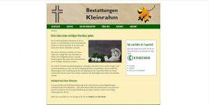 Internetseite für Bestattungen Kleinrahm in Ratingen