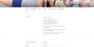 Internetseite von Gabi Feltgen, Pilatestrainerin aus Meerbusch