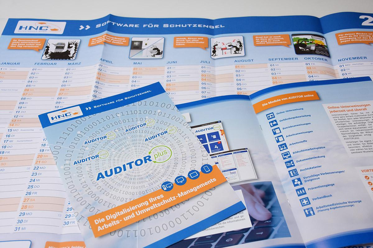 HNC Kalender und Broschüre