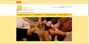 Internetseite für Lisa Kleinrahm, Paartherapeutin und Eheberaterin aus Ratingen