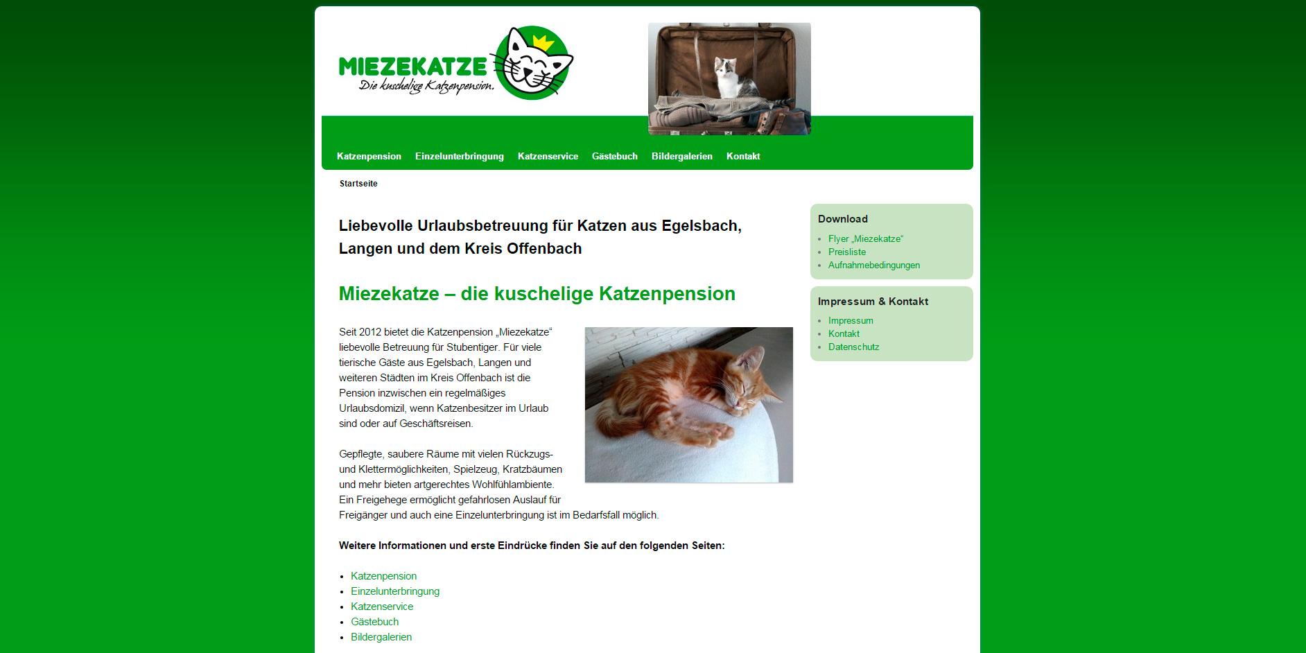 """Katzenpension """"Miezekatze"""""""