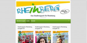 Internetseite für das Stadtmagazin Rheinberg