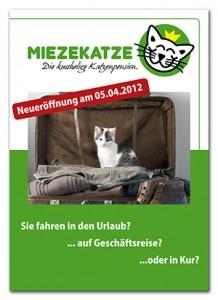 Flyer der Katzenpension Miezekatze aus Egelsbach