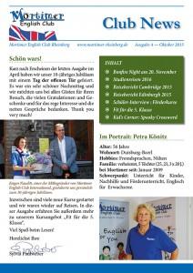 Kundenzeitschrift für die Englisch-Sprachschule Mortimer English Club in Rheinberg