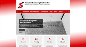 """Webdesign und Erstellung der Texte für die Internetseite für """"S"""" Gebäudeinstandhaltung UG aus Geldern."""