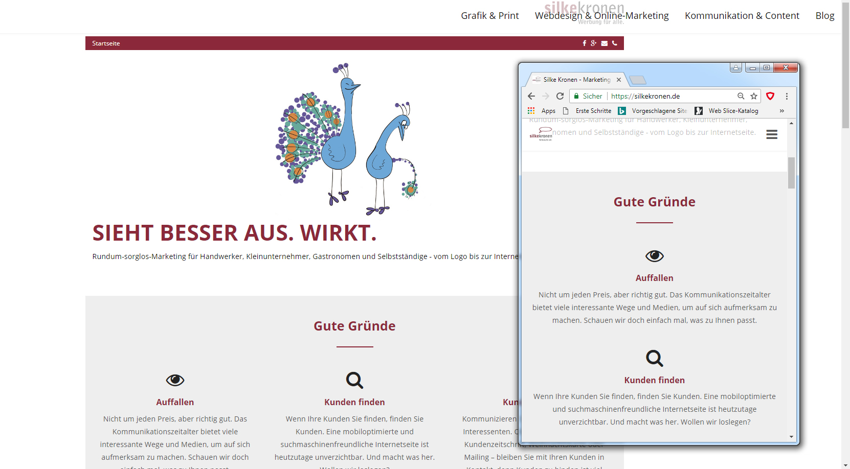 Was bedeutet responsive Webdesign?